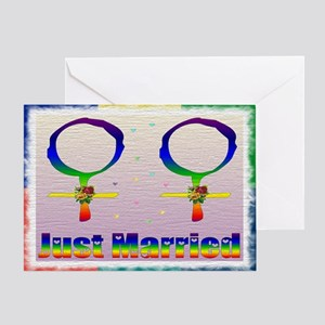Just Married Lesbians Greeting Card