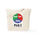 Good, Fast, Cheap Tote Bag