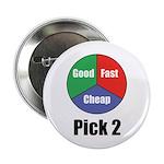 Good, Fast, Cheap Button