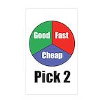 Good, Fast, Cheap Rectangle Sticker