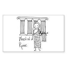 Rome Rectangle Sticker