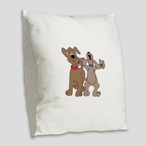 Dog Pals Burlap Throw Pillow