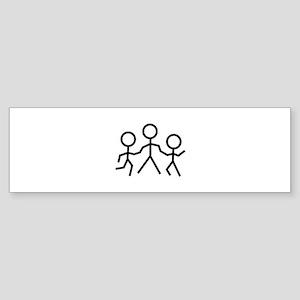 Stick People Bumper Sticker