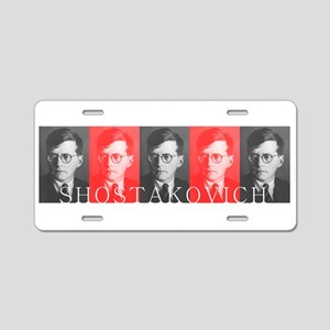 Shostakovich Aluminum License Plate