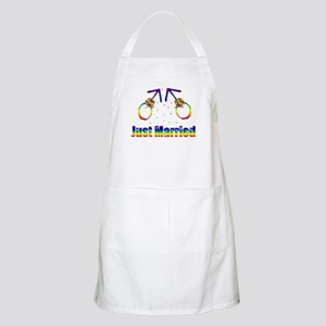 Just Married Gay Men Apron