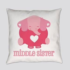 Middle Sister Elephant Everyday Pillow