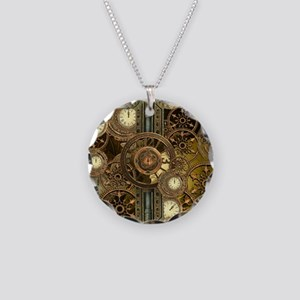 Steampunk, awessome clocks with gears Necklace