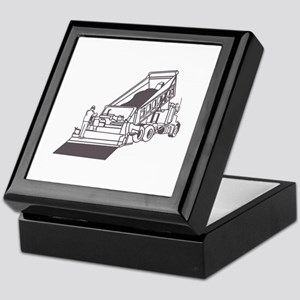 Paving Truck Outline Keepsake Box