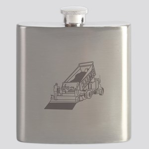 Paving Truck Outline Flask