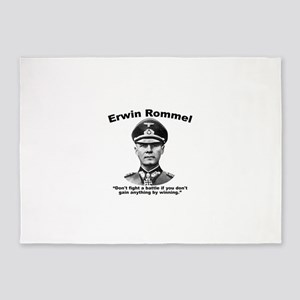 Rommel: Don't Fight 5'x7'Area Rug