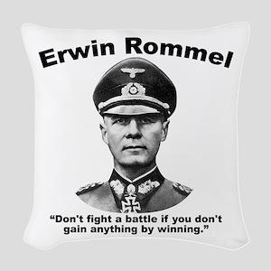 Rommel: Don't Fight Woven Throw Pillow