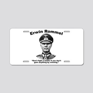 Rommel: Don't Fight Aluminum License Plate