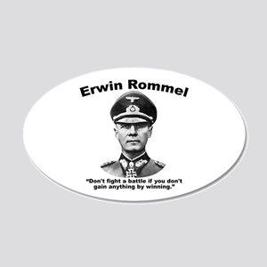 Rommel: Don't Fight 20x12 Oval Wall Decal