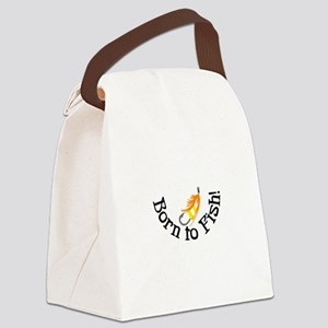 Born To Fish Canvas Lunch Bag