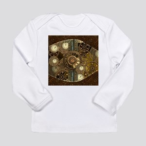 Steampunk, awessome clocks with gears Long Sleeve