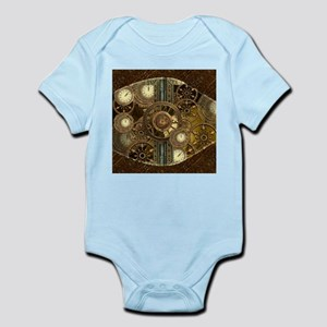 Steampunk, awessome clocks with gears Body Suit