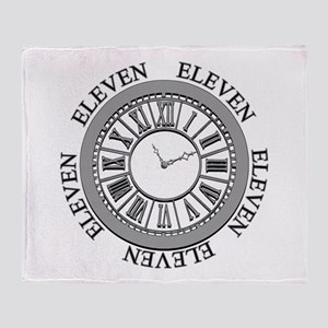 Eleven Eleven Roman Clock Throw Blanket