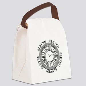 Eleven Eleven Roman Clock Canvas Lunch Bag