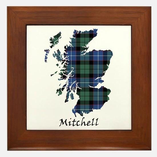Map-Mitchell Framed Tile
