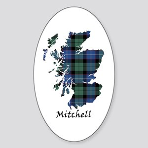 Map-Mitchell Sticker (Oval)