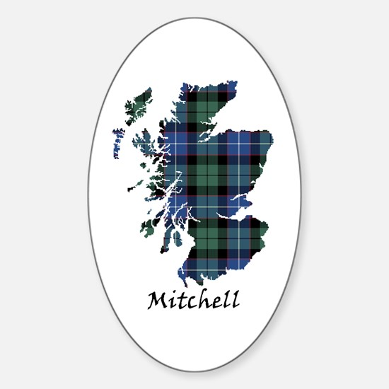 Map-Mitchell Sticker (Oval)