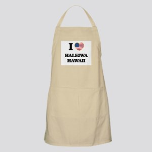 I love Haleiwa Hawaii Apron