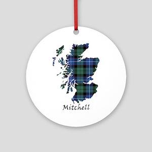 Map-Mitchell Round Ornament