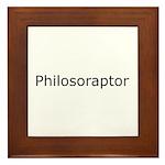 Philosoraptor Framed Tile