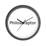 Philosoraptor Wall Clock