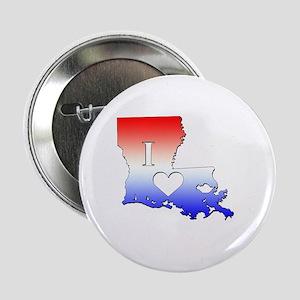 "I Love Louisiana 2.25"" Button"
