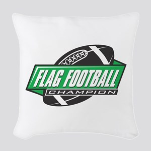 Flag Football Champion Woven Throw Pillow