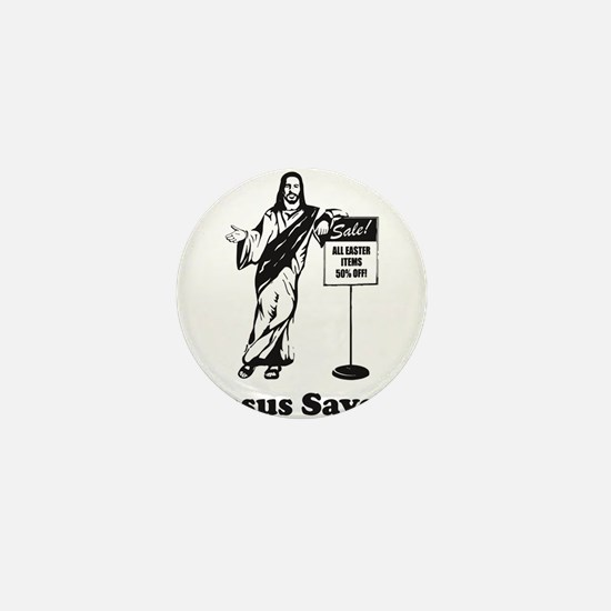 Jesus Saves! Mini Button