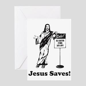 Jesus Saves! Greeting Cards