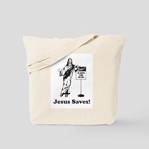 Jesus Saves! Tote Bag