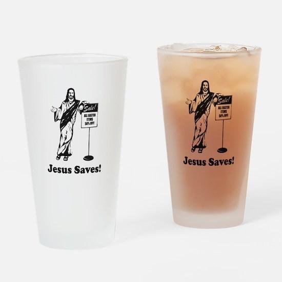 Jesus Saves! Drinking Glass