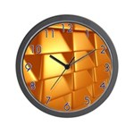 Gold Bricks Wall Clock