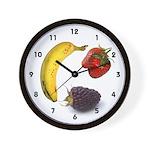 Kitchen 3 fruit Wall Clock