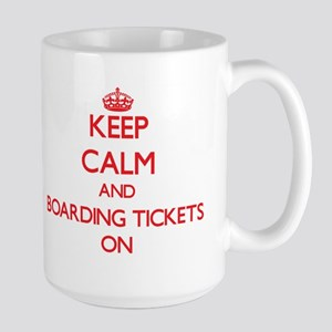Keep Calm and Boarding Tickets ON Mugs