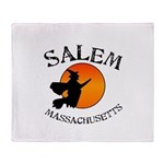 Salem Massachusetts Witch Throw Blanket