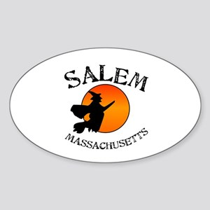 Salem Massachusetts Witch Sticker (Oval)