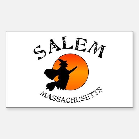 Salem Massachusetts Witch Sticker (Rectangle)