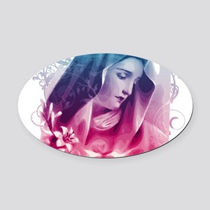 Most Pure Heart of Mary (vertical) Oval Car Magnet