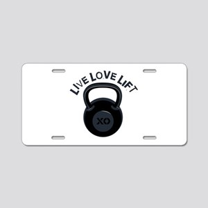 Live Love Lift Aluminum License Plate