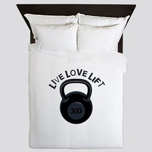 Live Love Lift Queen Duvet