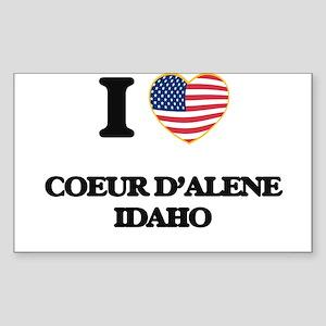 I love Coeur D'Alene Idaho Sticker