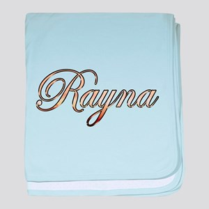 Gold Rayna baby blanket