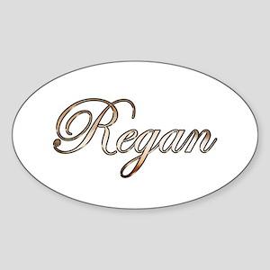 Gold Regan Sticker