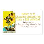 Better Dissatisfied Rectangle Sticker