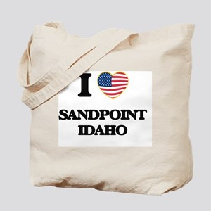 I love Sandpoint Idaho Tote Bag