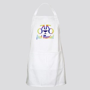 Just Married Men BBQ Apron